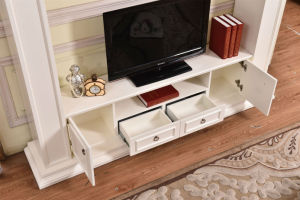 Ce Approved MDF Fireplace TV Stand Modern Home Furniture (346B) pictures & photos