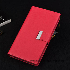 Luxury 3 Folded with 14 Card Slots PU Wallet Case for iPhone and Samsung pictures & photos