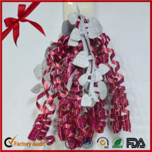 Medium Size 5mm Width Single Printed Curling Bow for Celebration pictures & photos