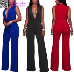 Hot Girl V-Neck Club Wear Sexy Women Jumpsuits (L55335) pictures & photos
