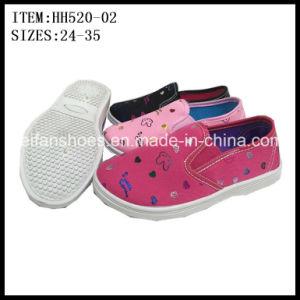 Hotsale Children Canvas Shoes Injection Shoes OEM (HH520-02) pictures & photos