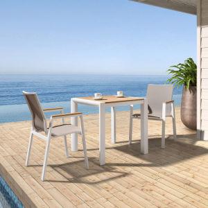 Patio Garden Outdoor Morden Furniture Plastic Wood Table Leisure Chair (J819) pictures & photos