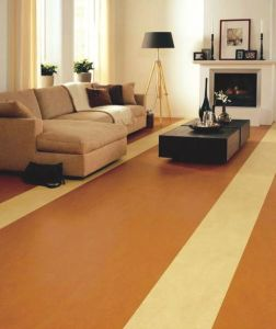 Corkwood Flooring with Polyurea Coating Used for Residence pictures & photos
