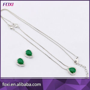 Pear Shaped Zirconia Necklace and Earring Fashion Jewellery Sets for Women pictures & photos