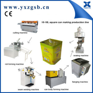 Semi-Automatic Tin Can Production Line of Big Rectangular Chemical Can pictures & photos