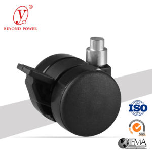 Furniture Casters 37mm Twin Wheel Thread Stem Chair Caster Cabinet Castor Medical Equipment Caster pictures & photos