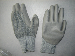 13G Hppe Liner Grey PU Anti-Cut Glove (5529-CUT3) pictures & photos