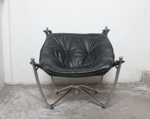Stainless Steel Frame Vintage Leather Leisure Chair, Retro Furniture pictures & photos