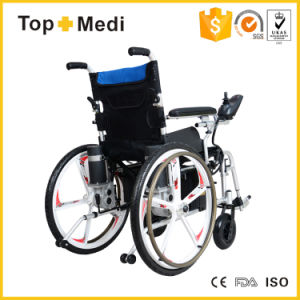 Topmedi Five Fork Wheel Foldable Detachable Power Electric Wheelchair Prices pictures & photos