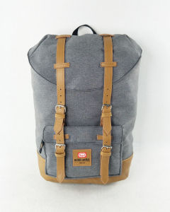 Polyester with PU Leather Fashion Outdoor Laptop Backpack pictures & photos