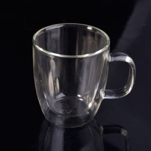 Heat Resistant Double Wall Glass Mug Coffee Cup pictures & photos