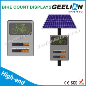 Red Circle Signal Traffic Warning Solar Powered Sign Lights pictures & photos