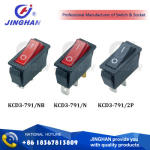 Kcd3-791 Red Button Electrical Rocker Switches for Electric Fireplace pictures & photos