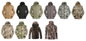 Men Winter Outdoor Hunting Windbreaker Waterproof Hoodie Jackets pictures & photos