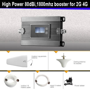 High Gain, 80dB, 25dBm 1800MHz 2g 4G Mobile Signal Booster pictures & photos