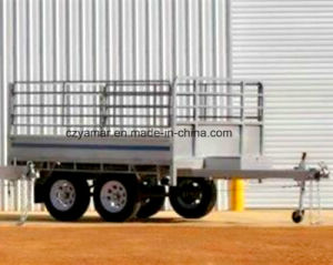 Tandem Axle Fully Welded Hydraulic Trailer pictures & photos