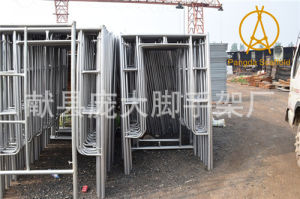 ISO9001 1.8m High Steel Tube Frame System Scaffold for Building pictures & photos