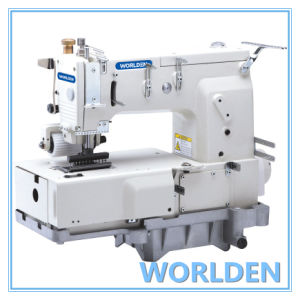 Wd-1412p 12 Needle Flat -Bed Double Double Chain Stitch Sewing Machine pictures & photos