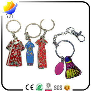 Fancy Imitation Enamel and Sticker Glue Effect Metal Key Chain pictures & photos