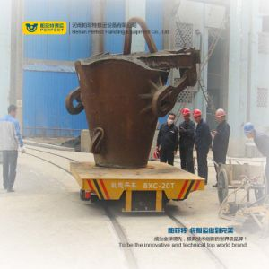 Battery Transfer Platform Powered Ladle Cart Material Transfer Cart pictures & photos