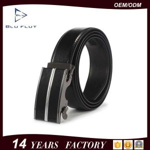 Men′s Genuine Cowhide Leather Fashion Automatic Buckle Ratchet Belt pictures & photos