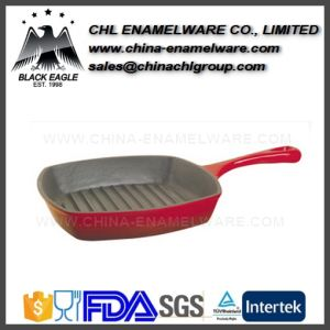 Factory Household Smokeless Cast Iron Rectangle Camping Grill Pan pictures & photos