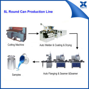 Automatic 1-5L Chemical Small Round Tin Can Seaming Machine pictures & photos