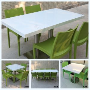 Artificial Marble Tea Table Restaurant Table and Chairs pictures & photos