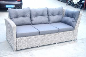 Garden Patio Rattan Home Hotel Restaurant Outdoor Furniture Glass Table and Kd Sofa (J725) pictures & photos