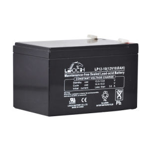 12V 10ah Long Life Lead Acid Rechargeable Solar Battery pictures & photos