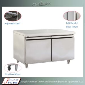 48f Stainless Steelrefrigeration Equipment Double Door Commercial Under Counter Chiller pictures & photos