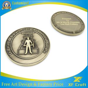 Manufacturer Customized Soft Enamel Matte Silver Plated Challenge Coins in China (XF-CO06) pictures & photos