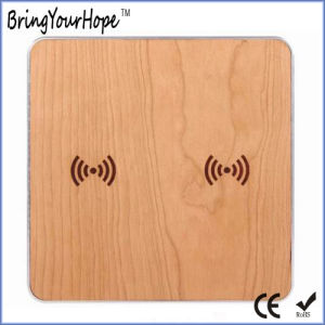 Dual Wooden Wireless Charger for Two Phones (XH-PB-131) pictures & photos