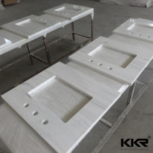 31X22 Cararra White Solid Surface Vanity Top W/Sink pictures & photos