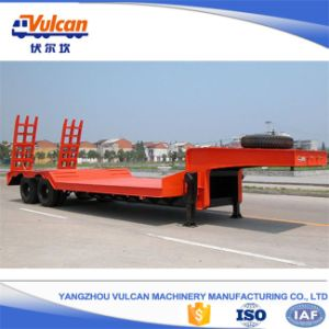 Factory Supply 2 Axle Lowbed Cargo Utility Trailer