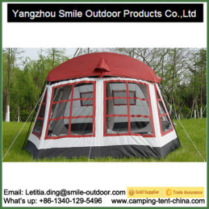 8-10 Person 2 Bedrooms 1 Hall Waterproof Camping Family Tent pictures & photos