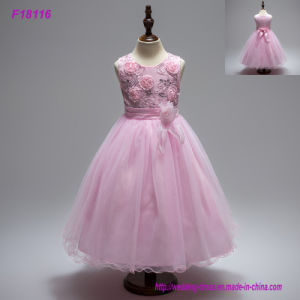 Wholesale Factory Price Beaded Kid Girls Party Dress pictures & photos