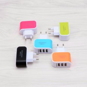 5V 3A EU Plug 3 Ports USB Wall Charger Adapter pictures & photos