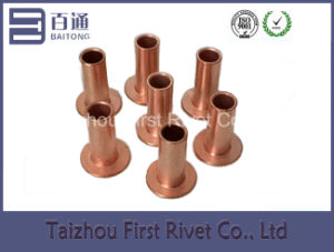 10-10 Copper Plated Flat Head Full Tubular Steel Rivet pictures & photos