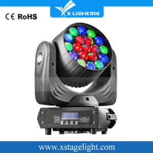 LED Stage Lighting 19PCS 12W Zoom Wash Moving Head Light pictures & photos