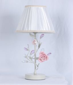 Factory Top Sale Foral with Pink Flower and Greed Leaf Chandelier with UL Approval pictures & photos