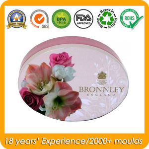 Oval Shape Wedding Tin Box for Soap pictures & photos