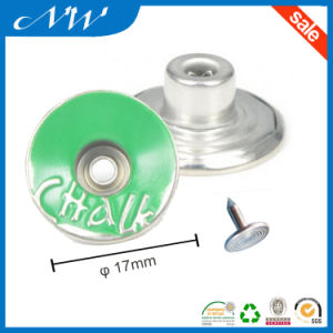 Customized Colorful Metal Shank Buttons for Jeans Wear