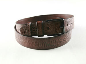 Fashion Pin Buckle Embossed Men Leather Belt