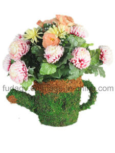 Cup Shape & Moss Made Garden Pot pictures & photos