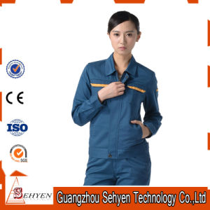 65%Polyester and 35%Cotton Custom Design Factory Worker Uniform with Green-Blue pictures & photos