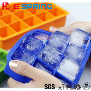 Hot Selling 21 Cavity Silicone Ice Cube Trays Big Ice Tray Easy Release pictures & photos
