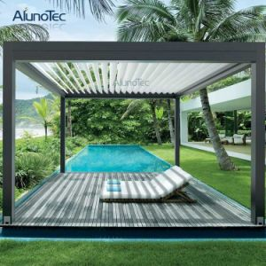 Motorized Waterproof Outdoor Garden Aluminum Gazebo Pergola with LED Light pictures & photos