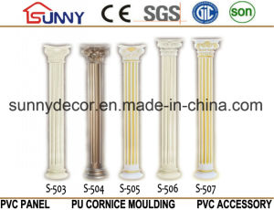 PU High Quality Polyurethane Crown Marble Roma Columns pictures & photos
