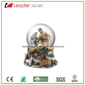 Polyresin Craft Gift 80mm Water Globe with Flamingo Figurines for Souvenir and Promotional Gifts pictures & photos